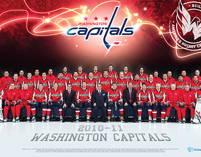 Washington Capitals Team Poster 2011