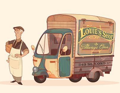"""""""Louie's shop"""" car concept"""