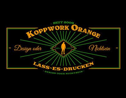 Vintage-Logo KoppWork Orange