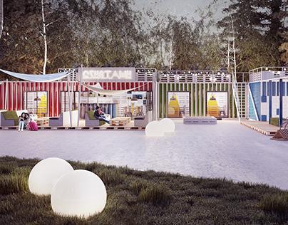 Katowice - container restaurant