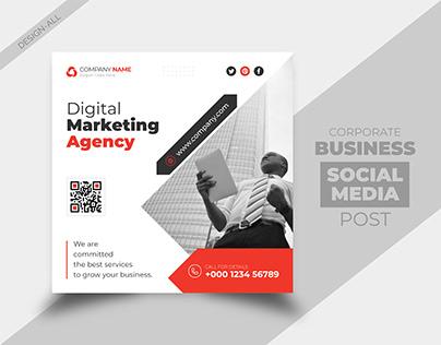 Corporate Business Social Media Instagram Post Template
