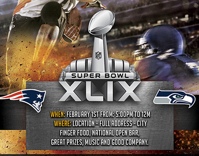 Super Bowl Party 2015 - Flyer