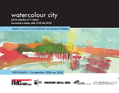 watercolour city