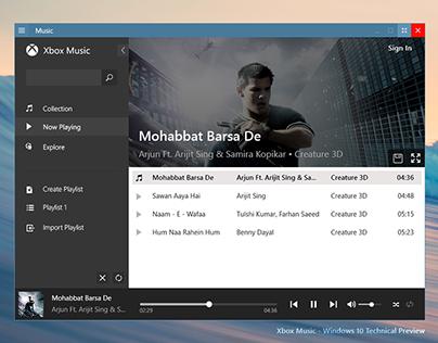 Xbox Music Redesign