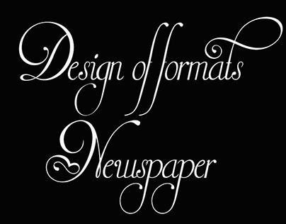 Design of formats newspaper