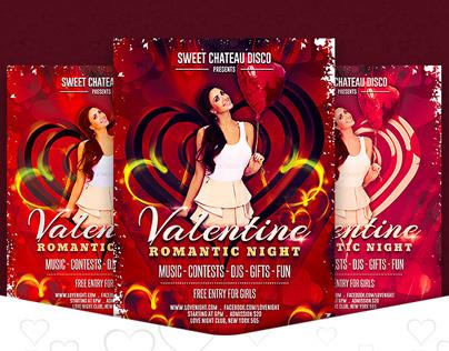 Romantic Valentine Night Party Flyer