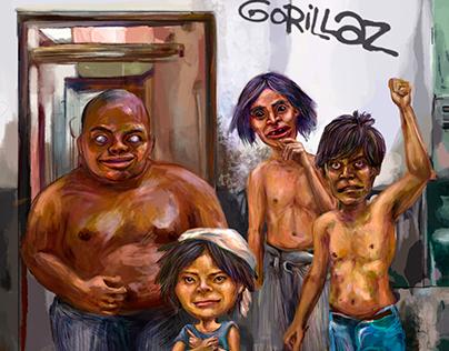 Fan Art: Gorillaz achorados