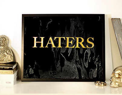 Haters funeral sign