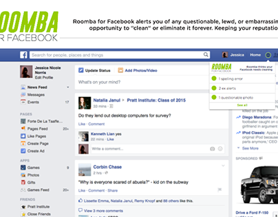 Roomba for Facebook