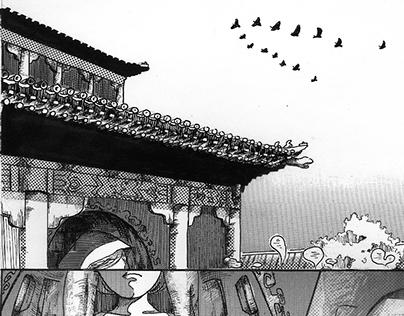 Hand drawing Manga, unfinished project.