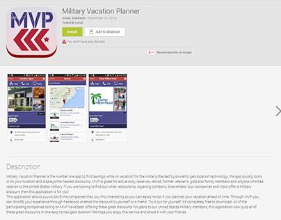 Military Vacation PlannerAndroid app development