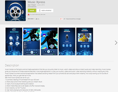 Music Xpress Android app development