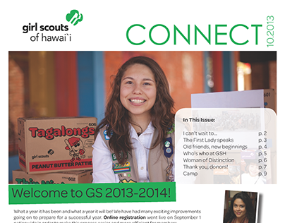 Girl Scouts of Hawaii Quarterly Newsletter, October