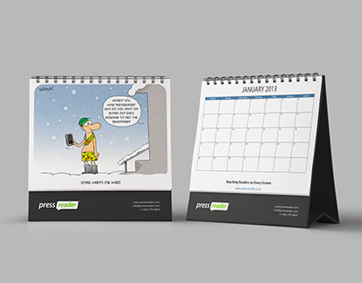 Cartoon calendar 2013