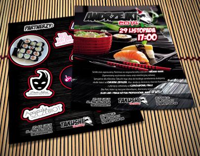 Andrzejkowa ulotka Takushi Sushi