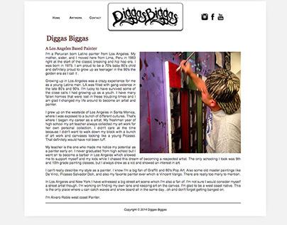 Website Design - Diggas Biggas