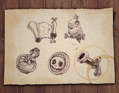 Skull Pirates Icon/UI/UX