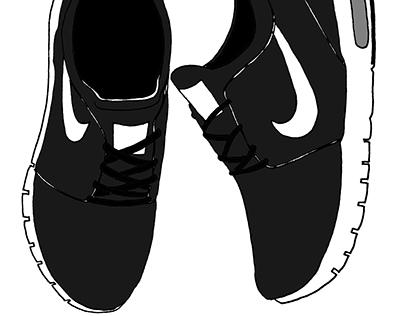 Nike sneakers illustration