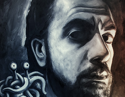 Self Portrait with Flying Spaghetti Monster