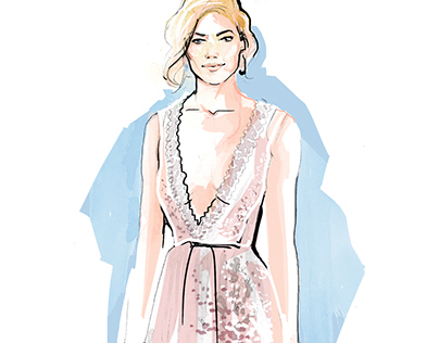 Red Carpet Fashion Illustrations