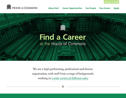 House of Commons Careers Website