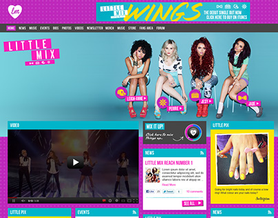 Little Mix Website