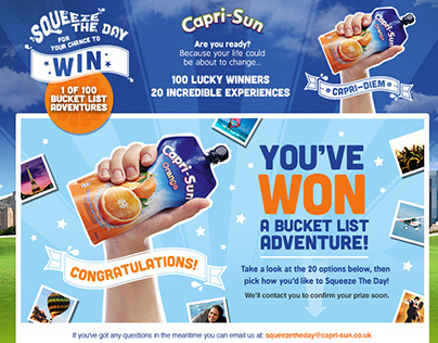 Capri Sun - 'Squeeze the Day' Microsite