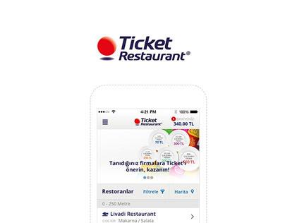 Ticket Restaurant - UI Design iOS