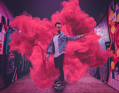 Red Road - photo manipulation