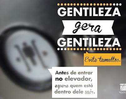 """Campanha """"Gentileza gera Gentileza"""""""