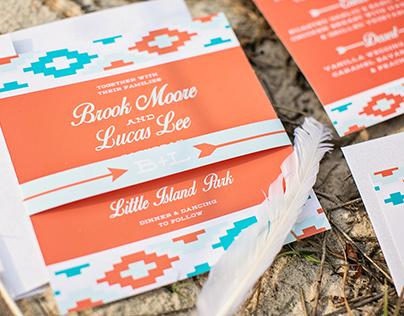 Southwestern Chic Wedding Invitation