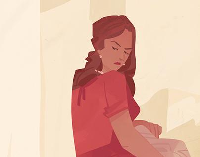 2015 Editorial illustration: domestic violence.