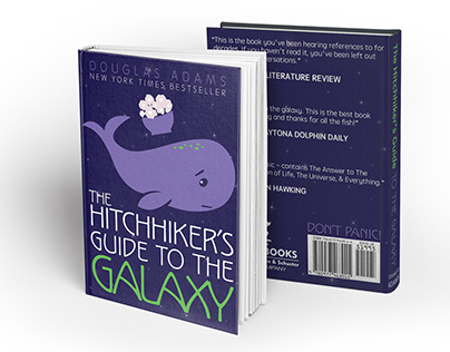 Hitchhiker's Guide to the Galaxy Book Cover & Journal