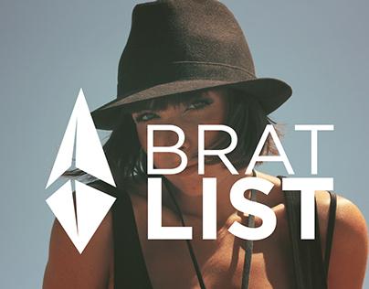 BRATLIST - Brand Identity & Mobile App