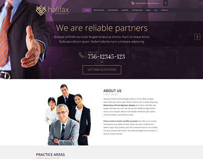 Halifax Law Firm Business Template