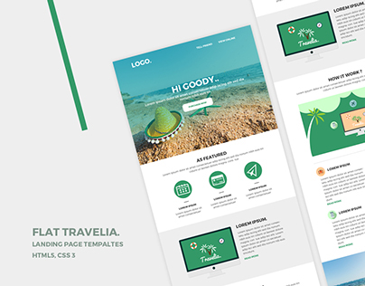 Landing page + Email Templaes + 30+ IconSet