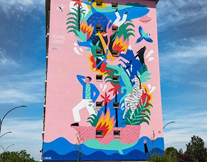 """Mural / """"L'Arche"""""""