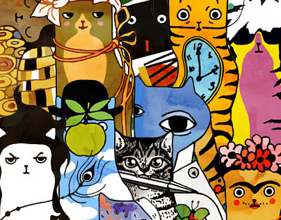 Art cats — famous artists as cats