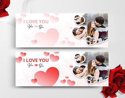 Valentine's Day Facebook Timeline Cover