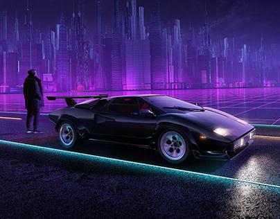 Lamborghini Countach 1985   Full CGI