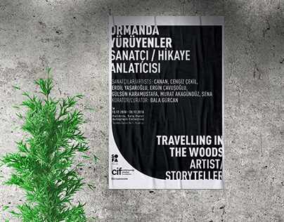 Travelling in The Woods // Exhibition Graphics