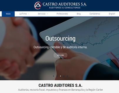 Diseño y desarrollo sitio web de Castro Auditores
