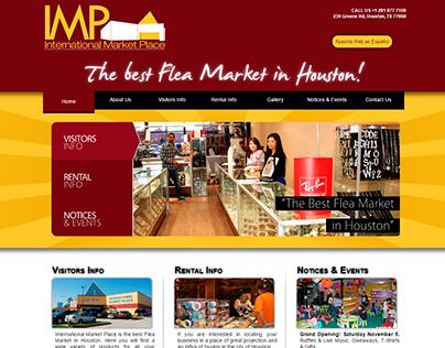 Diseño y desarrollo sitio web de Int. Market Place