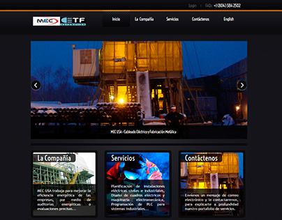 Diseño y desarrollo sitio web de MEC USA Group