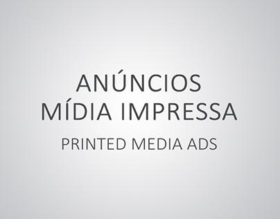 Anúncios para mídia impressa / Printed media ads