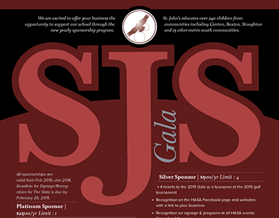 Saint John The Evangelist Gala Flyer