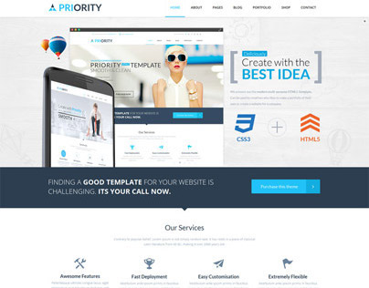 drupal 404 template - priority multipurpose html5 template on behance