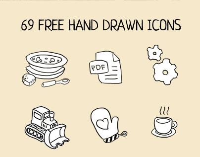 Free hand drawn icons