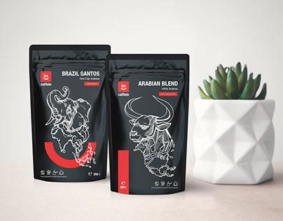 Разработка дизайна упаковки кофе «Caffein»
