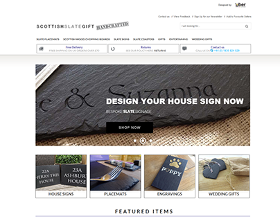 Scottish Slate Gift ebay shop design project